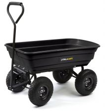 Buy Garden cart moves heavy supplies and has a patented quick-release dump feature