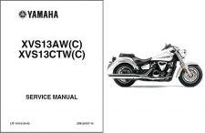 Buy 07-10 Yamaha XVS13 V-Star / Tourer 1300 Service Repair Manual CD - XVS13AW_CTW