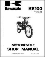 Buy 1971-2001 Kawasaki G5 / KE100 Service Repair Workshop Manual CD .. G 5 KE 100
