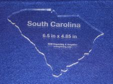 """Buy State of S. Carolina 6.5"""" x 4.85"""" ~ 1/4"""" Quilt Template- Acrylic Long Arm/Hand"""