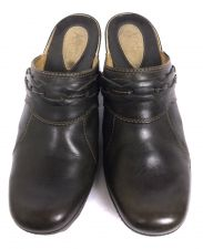 Buy Clarks Shoes 8 Womens Brown Leather Heels