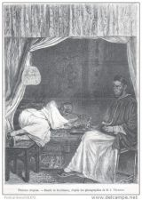 Buy CHINA - OPIUM SMOKERS - engraving from 1874