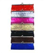 "Buy Fashion Sparkling Sequins Dazzling Clutch Evening Party Handbag Purse ""BROWN"""