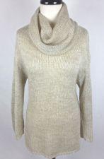 Buy HM Sweater S Womens Beige Wool Long Sleeve Tunic