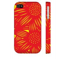 Buy Swantak Yellow Red Iphone 4/4S Apple Phone Case Flowers Botanical