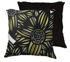 Buy Kneip 18x18 Yellow Black White Blue Pillow Flowers Floral Botanical Cover Cushion Cas