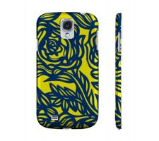Buy Vario Yellow Blue Flowers Samsung Galaxy S4 Phone Case