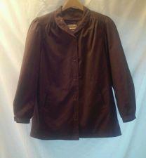 Buy EUC women's sz. 12 nordstrom Town Square purple lined button down jacket