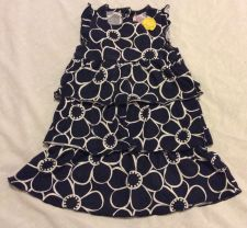 Buy Carters Girl Dress Blue White Yellow Size 24m