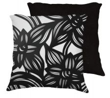Buy Pullum 18x18 Black White Pillow Flowers Floral Botanical Cover Cushion Case Throw Pil