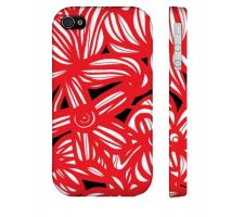 Buy Lace Red White Black Iphone 4/4S Apple Phone Case Flowers Botanical