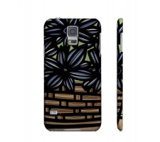 Buy Larabee Blue Green Flowers Samsung Galaxy S5 Phone Case
