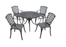 Buy Sedona 42-Inch Five Piece Cast Aluminum Outdoor Dining Set Garden Dinning Oval