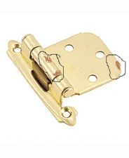 Buy 2 pc Belwith P50010F-3, Self-Closing Brass Cabinet Hinge