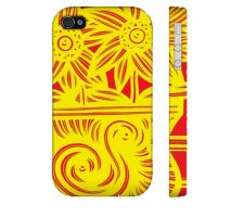 Buy Rutkin Yellow Red Flowers Floral Botanical Iphone 4/4S Phone Case