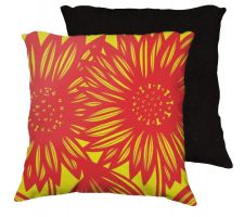 Buy Friedhaber 18x18 Red Yellow Pillow Flowers Floral Botanical Cover Cushion Case Throw