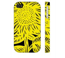 Buy Jung Yellow Black Iphone 4/4S Apple Phone Case Flowers Botanical