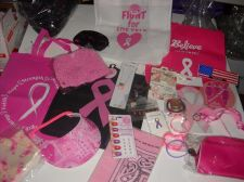 Buy Cancer Awareness 24 piece lot Pink Ribbon tote bracelet purse beanie magnet pin