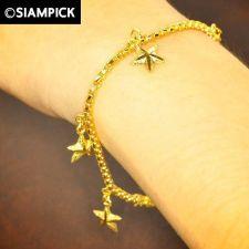 Buy Thai 22k 24k Baht Yellow Gold Plated GP Box Bracelet Chain Bangle Jewelry B004