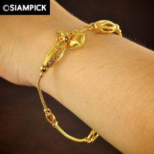 Buy 22k 24k Thai Baht Yellow Gold Plated GP Bead Bracelet Chain Bangle Jewelry B060