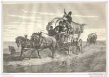 Buy HOLLAND - GOING TO THE PARTY - engraving from 1874