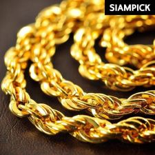 """Buy 30"""" Thai Baht 22k 23k 24k Yellow Gold Plated GP Rope Chain Necklace Jewelry N034"""