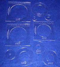 """Buy 10 Piece Nested Penny Rug Set 1/8"""" Acrylic - Rug/Quilting/Embroidery Templates"""