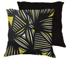 Buy Sade 18x18 Yellow Black Black Back Cushion Case Throw Pillow Cover 631 Art
