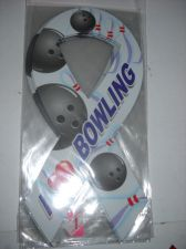 Buy Bowling magnet 8 inch ribbon I Love Bowling team 6 lot car home locker