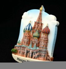 Buy 3D SCULPTURE FRIDGE MAGNET MEMORIAL PLACE ST.BASIL'S CATHEDRAL MOSCOW RUSSIA