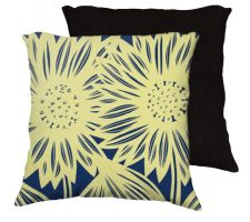 Buy Marozzi 18x18 Yellow Blue Pillow Flowers Floral Botanical Cover Cushion Case Throw Pi