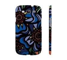 Buy Rosenbeck Red Blue Flowers Samsung Galaxy S3 Phone Case