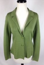 Buy Eileen Fisher Sweater PS Womens Green Cotton Long Sleeve