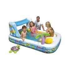 Buy kiddie pool Backyard family play Center Waterfall Waterpark With Slide