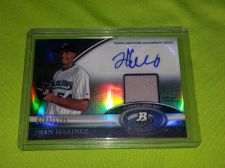Buy MLB JHAN MARINEZ MARLINS 2011 TOPPS PLATINUM AUTOGRAPHED JERSEY RELIC /1166 MNT