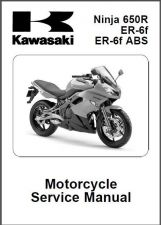 Buy 09-12 Kawasaki Ninja 650R / ER-6f / ER-6f ABS Service Repair Manual CD .. 650 R