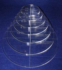 """Buy 7 Piece Circle Set - with seam allowance ~ 1/4"""" Thick - Long Arm"""