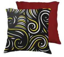 Buy Geck 18X18 Yellow Black Red Back Cushion Case Throw Pillow Cover 631 Art