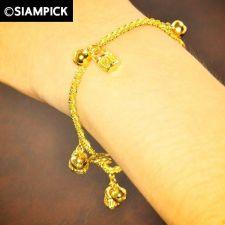 Buy Thai 22k 24k Baht Yellow Gold Plated GP Bracelet Rope Chain Bangle Jewelry B009