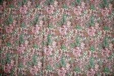 Buy Fabric,Floral Multi-color Gray, Pink flowers & Green leaves 1.50 yds