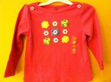 Buy Gymboree Girls Pink Growing Flowers Long Sleeve Shirt Size 18-24m