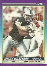 Buy Bruce Wilkerson Raiders #465 @1990 Score