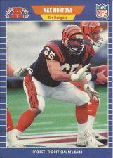 Buy MAZ MONTOYA, Guard, CINCINNATI BENGALS, National Football League 1989 Pro Card