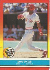 Buy ERIC DAVIS, Outfielder, CINCINNATI REDS, FLEER BASEBALL'S HOTTEST STARS @1988