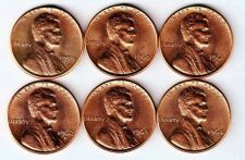 Buy 1959 - 1964 D BU Lincoln Memrial Cents: First 6 Years, Denver Mint