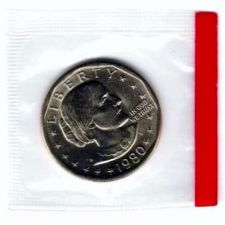 Buy 1980 Uncirculated Susan B. Anthony Dollar in Mint Cello