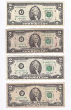 Buy 4 $2 Dollar Bills: 1976 D, 1976 G, 1976 H & 2003 F