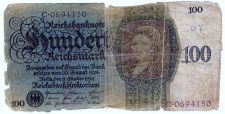 Buy Germany 100 Reichsmark 1924 Z