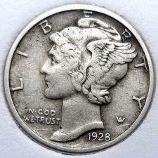 Buy 1928 XF Mercury Dime