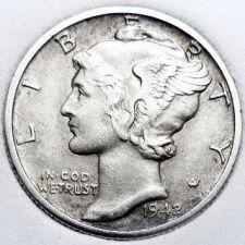 Buy 1942-D XF Mercury Dime